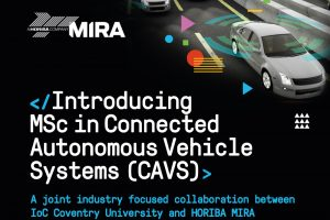 MSc in Connected Autonomous Vehicle Systems (CAVS)